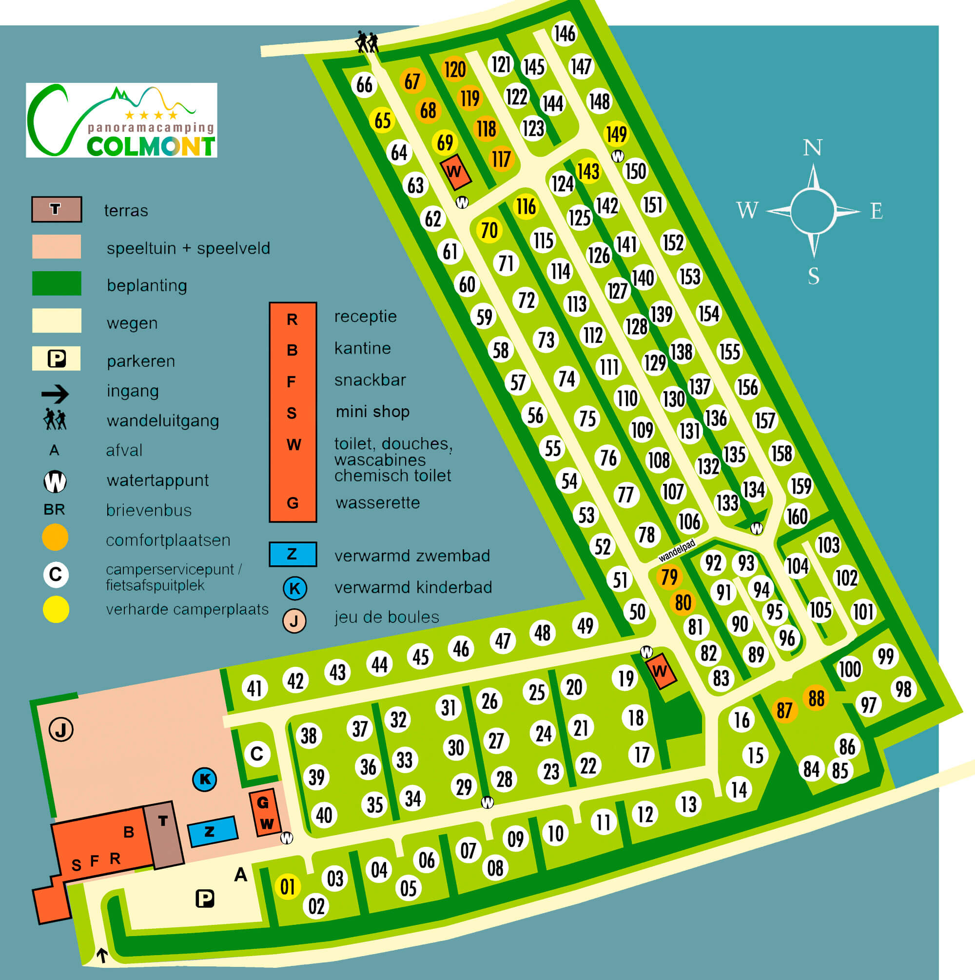 Plattegrond Panoramacamping Colmont